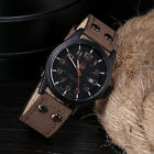 New Vintage Classic Men's Waterproof Date Leather Strap Sport Quartz Army Watch