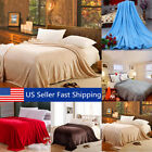 Super Soft Warm Value Solid Plush Fleece Blanket For Queen King Bedding Throw US image