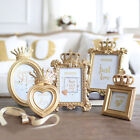 Luxury Baroque Style Gold Crown Decor Creative Resin Picture Desktop Frame