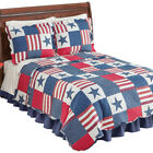 Americana Star Patchwork Quilt, by Collections Etc image