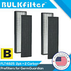 1 2 4 Pack HEPA+ Replacement FILTER B for GERMGUARDIAN GERM FLT4825 AC4800 4800