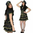Ladies fancy dress sexy party airline pilot air stewardess girl Size 10 12 14
