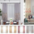 Tulip Print Blackout Room Darkening Thermal Grommet Window Curtain Drape Panels