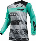 Thor Mens & Youth Mint/Black Pulse Savage Jaws Dirt Bike Jersey MX ATV 2019