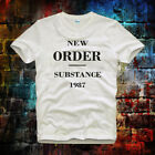 New Order Substance TEE TOP UNISEX / Ladies  MEN'S T Shirt ideal gift B599 image