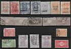 3731: Saudi Arabia; selection of 19 Hedschas stamps. Some over printed. 1915>