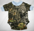 Mossy Oak Camo Blue Baby Diaper Shirt, Boy Camouflage Snap Creeper