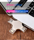 for iPhone 4 in 1 USB Memory Storage Stick Pen Drive For Android Mini USB Type c