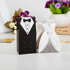 10pcs Bride and Groom Candy Box for Wedding Sweet Bag Wedding Favors Gifts New