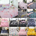 Soft Printed Duvet Cover Set with Pillow Shams Flat Sheet Pillowcase Bedding Set