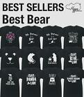 Best Bear unisex t-shirt funny gift present Animal Forrest Wild Fur Novelty Joke