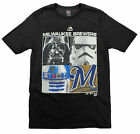 MLB Youth Milwaukee Brewers Star Wars Main Character T-Shirt, Black $14.99 USD on eBay