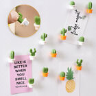 6PCsCute Fridge Magnets Button Cactus Refrigerator Message Stickers Home Decor