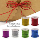 23M 10mm-Width Metallic Cord String Hollow Ribbon Gift Wrapping Crafting Pieces