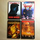 4 Action DVD Lot: Mission Impossible, Wanted, Rush Hour 2, Once Upon Time China