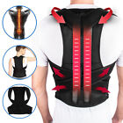 Posture Corrector Lumbar Lower Back Shoulder Support Brace Strap for Pain Relief