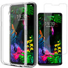 For LG G8 ThinQ Shockproof Hybrid Crystal Clear Slim Case Cover+Screen Protector