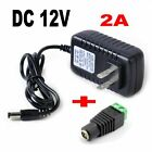 AC DC 12V 2A US Plug Power Supply Adapter Charger For 3528 LED Strip Lights