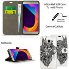 For Samsung Galaxy J7 Core SM-J701F Case Wallet Leather Cover + Screen Protector