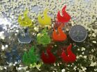 10x Small Fire Flame Acrylic Charms/pendants/jewellery Making/craft's/laser Cut