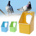 Pet Pigeons Water Food Feeder Bird Cage Hang Feeding Box Transparency Cover HL