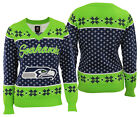 Forever Collectibles NFL Football Womens Seattle Seahawks V-Neck Holiday Sweater $39.95 USD on eBay