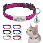 Sequins Quick Release Cat Collar Safety Breakaway Personalized ID Name Collars