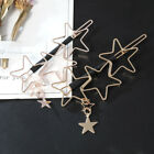1X Hairpin Hollow Metal Five-Pointed Star Hairpin Simple Woman Hair Accessories