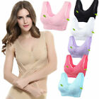 Lady  Front Cross Side Buckle Wireless Lace Bra Breathable for Women Sport Yoga