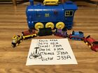 Thomas TheTrain Lot of 6 Trains Blue Train Carry Case Kevin Charlie Victor Salty