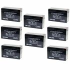 NEW 8 PACK UPG UB1290 12V 9AH Battery Replaces Boss Buck 600LB Automatic Feeder