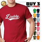 Daddy T-shirt Fathers Day baseball Gift New Dad Papa Father Funny Graphic Tee