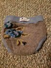 HumBird gray blue floral Felted Wool Pull Up Diaper Cover Soaker 62/68