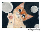"""Ginger Cat Feline ACEO Print """"Bubbles"""" By V Kenworthy"""