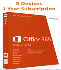 Microsof Office 365 Home 1 Year Subscription for 5pc or Macs or 5 Tablets