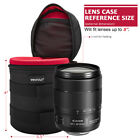 Waterproof Well Padded Zippered DSLR Camera Lens Case Protector Bag Case Set