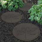 Garden Pathway Stepping Stones Lawn Paving Reversible Eco Recycled Rubber NEW