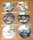 XBOX 360 GAMES 6 MICROSOFT DOLBY DIGITAL  GRAND THEFT AUTO , CALL OF DUTY  +