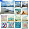 "18""Scenery Beach Pillow Cover Sofa Cushion Cover Case Beautiful Home Decor"