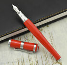 Fuliwen 2051 Red Fountain Pen, Luxury Style Fine Nib Smooth Writing Pen