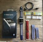 Fitbot Ionic Fitness Smartwatch - Gray - EUC - Bundle w 4 Extra Bands!