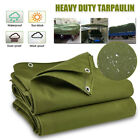Army Green Heavy Duty Canvas Tarp Tarpaulin Sun Rain Car Waterproof Dustproof