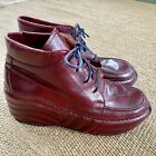 Jean Paul Gaultier Leather Lace Up Platform Booties Paraboots Sheos Size 6 NWOB