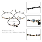 3PCS Bohemian Heart Tassel Bracelet Hemp Weave Rope Adjustable Bracelet Bijoux