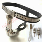 Redesigned Padlock Male Chastity Belt Device + Stopper Breathable Groove Cage