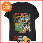 Queen 1978 Tour Band T-shirt VINTAGE RARE Shirt Black Cotton Full Size S-6XL image