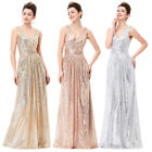 Kate Kasin SEQUINS GLITTER Evening Formal Party Ball Gown Celebrity Prom Dresses