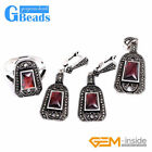 Shield Stone Rivets Beads Earrings Pendant Ring Jewelry Sets with Gift Box