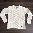 Womens Knit Sweater Large Cream Norte Dame Ireland Wool