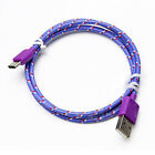 3FT 6FT 10FT Braided Rope USB-C Type-C Data Sync Charger Charging Cable Cord USA